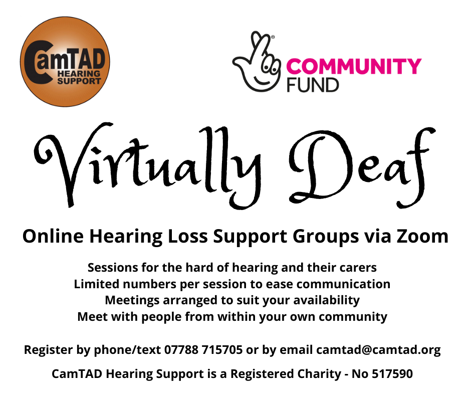 Flyer for Virtually Deaf service