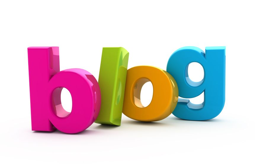 blog written in different brightly coloured letters