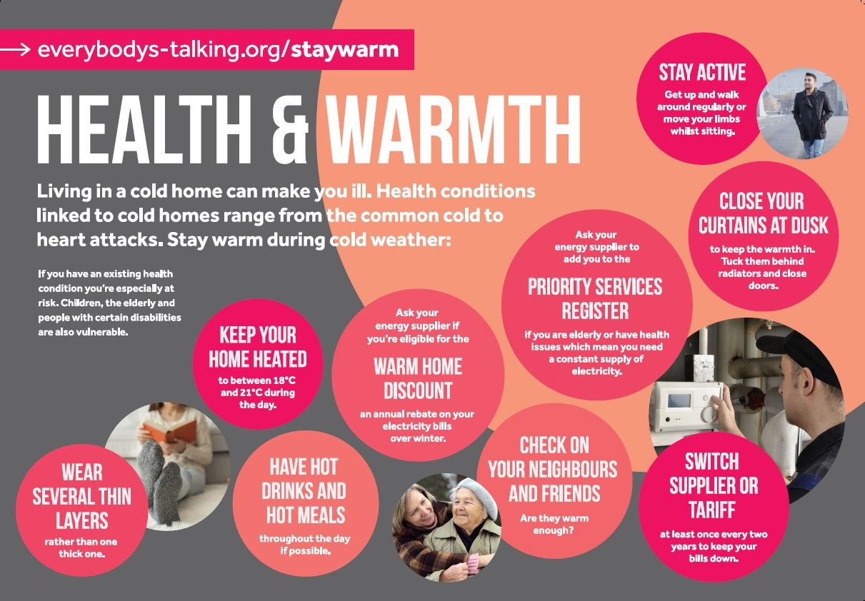 Health and Warmth energy advice