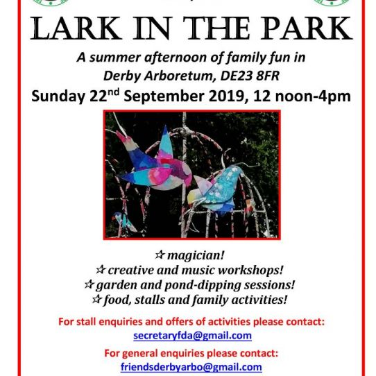 Stalls available for Lark in the Park 22 September 2019