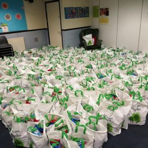 Food parcels waiting to go