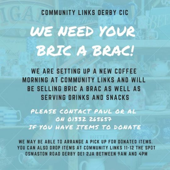 Community Links needs your bric-a-brac!