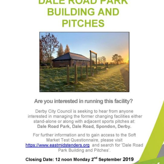 Dale Road Park Opportunity from Derby Parks