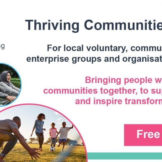 Thriving Communities Learning Together Programme - deadline 11 December!