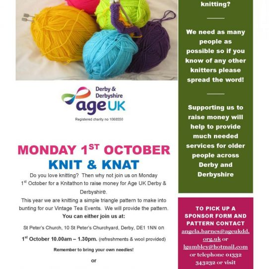 'Knitathon' - raising funds for Age UK Derby and Derbyshire