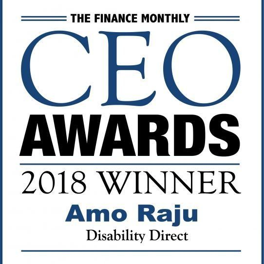 Congratulations to Amo Raju of Disability Direct - CEO of the year!