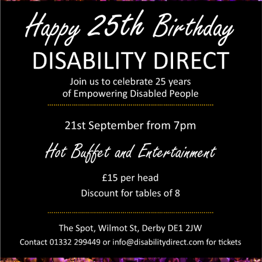Disability Direct's 25th Birthday Party!