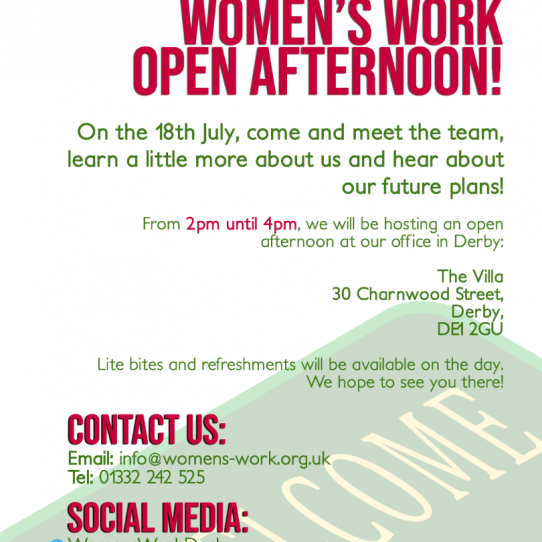 Women's Work Open Afternoon