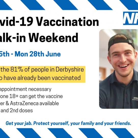 'Super Vaccination Weekend' across Derby and Derbyshire