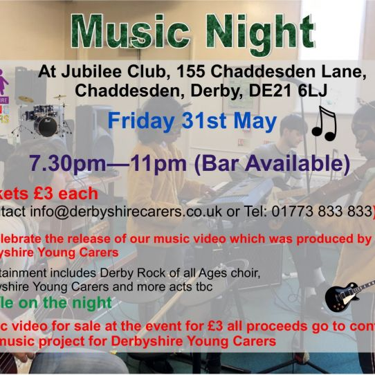Derbyshire Young Carers Music Night
