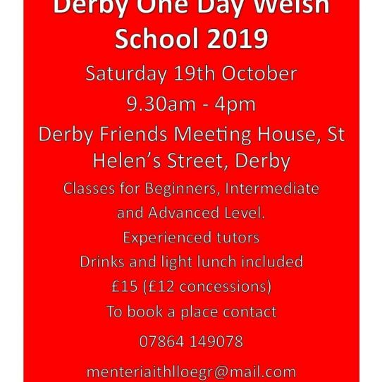 Derby One Day Welsh School 2019