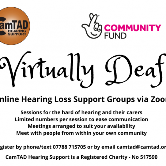 Virtually Deaf - online support for people with hearing loss