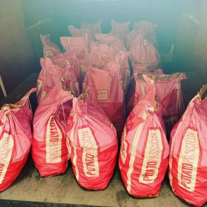 25 sacks of potatoes donated by Frites 33