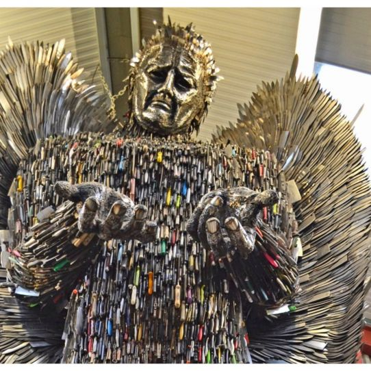 Knife Angel Sculpture - community help needed